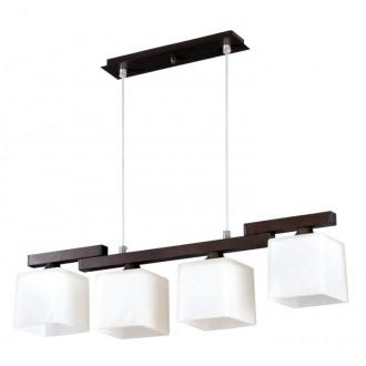 LAMPEX 048/4 WEN | Cubo-LA Lampex visilice svjetiljka 4x E27 venga, krom, bijelo