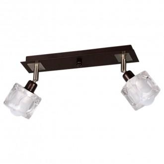 LAMPEX 049/2 WEN | FoRma-LA Lampex stropne svjetiljke svjetiljka 2x E14 venga, krom, prozirno