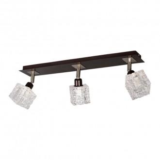 LAMPEX 049/3 WEN | FoRma-LA Lampex stropne svjetiljke svjetiljka 3x E14 venga, krom, prozirno