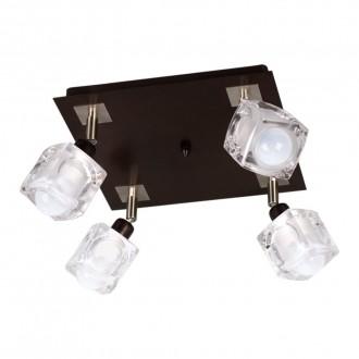 LAMPEX 049/4 WEN | FoRma-LA Lampex stropne svjetiljke svjetiljka 4x E14 venga, krom, prozirno