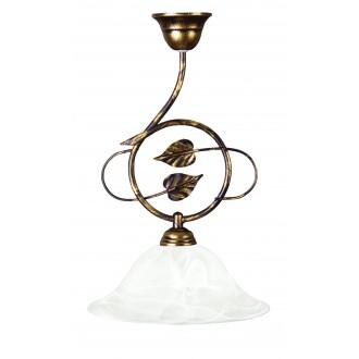LAMPEX 064/Z C+Z | Lampex-Pendant Lampex visilice svjetiljka 1x E27 braon antik, alabaster