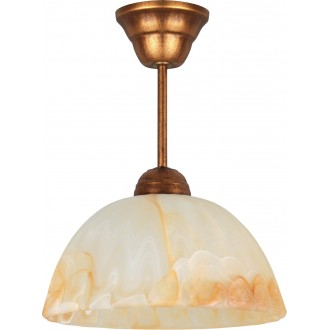 LAMPEX 066/Z B+M | Lampex-Pendant Lampex visilice svjetiljka 1x E27 antik crveni bakar, jantar