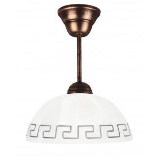 LAMPEX 066/Z C+M | Lampex-Pendant Lampex visilice svjetiljka 1x E27 antik crveni bakar, bež