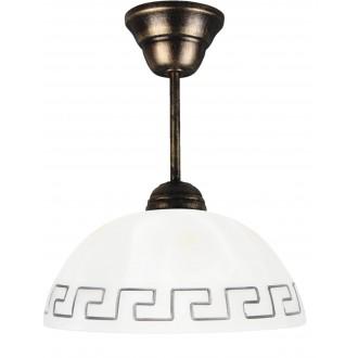 LAMPEX 066/Z C+Z | Lampex-Pendant Lampex visilice svjetiljka 1x E27 antik srebrna, bijelo