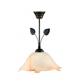 LAMPEX 069/Z C+M | Lampex-Pendant Lampex visilice svjetiljka 1x E27 braon antik, alabaster, jantar