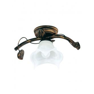 LAMPEX 090/1 C+M | Bluszcz Lampex stropne svjetiljke svjetiljka 1x E27 braon antik, alabaster