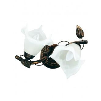 LAMPEX 090/2 C+M | Bluszcz Lampex stropne svjetiljke svjetiljka 2x E27 braon antik, alabaster