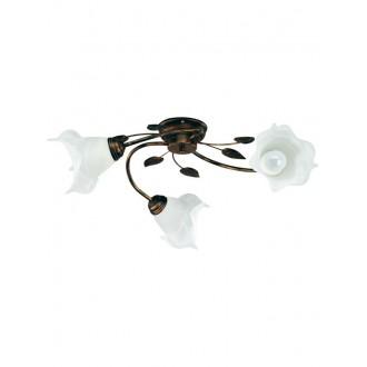 LAMPEX 090/3 C+M | Bluszcz Lampex stropne svjetiljke svjetiljka 3x E27 braon antik, alabaster