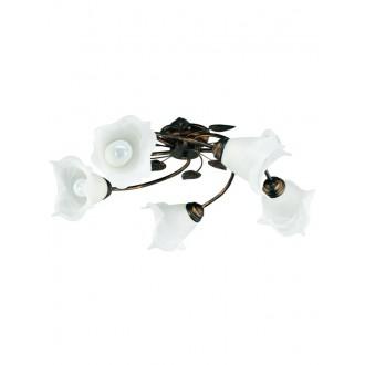 LAMPEX 090/5 C+M | Bluszcz Lampex stropne svjetiljke svjetiljka 5x E27 braon antik, alabaster