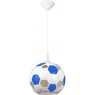 LAMPEX 102/PNI | Pilka Lampex visilice svjetiljka 1x E27 bijelo, plavo