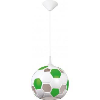 LAMPEX 102/PZI | Pilka Lampex visilice svjetiljka 1x E27 bijelo, zeleno
