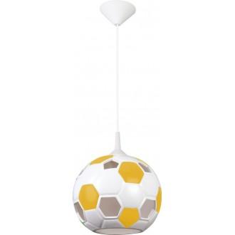 LAMPEX 102/PZO | Pilka Lampex visilice svjetiljka 1x E27 bijelo, žuto