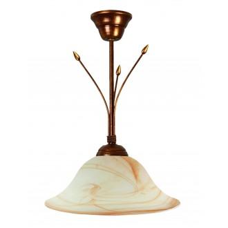 LAMPEX 114/Z B+M | Lampex-Pendant Lampex visilice svjetiljka 1x E27 patinasto, bež, jantar