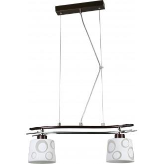 LAMPEX 128/2 WEN | Alicente Lampex visilice svjetiljka 2x E27 venga, krom, bijelo