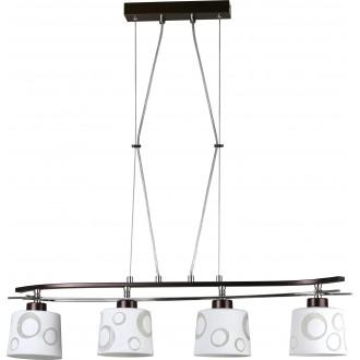 LAMPEX 128/4 WEN | Alicente Lampex visilice svjetiljka 4x E27 venga, krom, bijelo