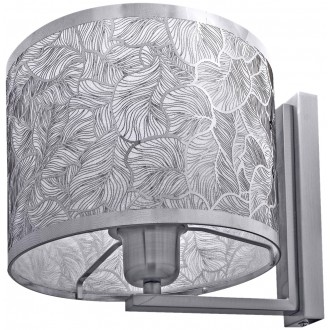 LAMPEX 132/K | Brillante Lampex zidna svjetiljka 1x E27 krom