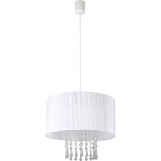 LAMPEX 153/1 BIA | Wenecja-LA Lampex visilice svjetiljka 1x E27 bijelo, prozirno