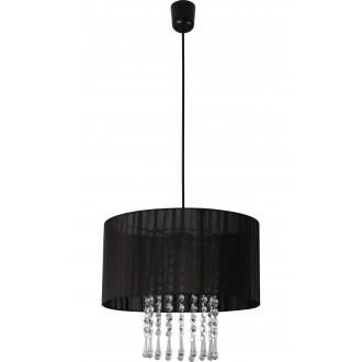 LAMPEX 153/1 CZA | Wenecja-LA Lampex visilice svjetiljka 1x E27 crno, prozirno