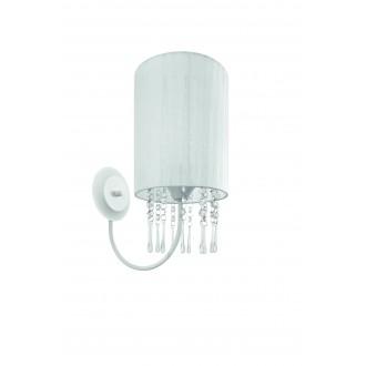 LAMPEX 153/K BIA | Wenecja-LA Lampex zidna svjetiljka 1x E27 bijelo, prozirno