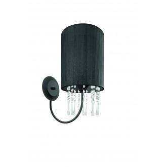 LAMPEX 153/K CZA | Wenecja-LA Lampex zidna svjetiljka 1x E27 crno, prozirno