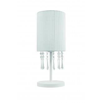 LAMPEX 153/LM BIA | Wenecja-LA Lampex stolna svjetiljka 45cm 1x E27 bijelo, prozirno