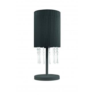 LAMPEX 153/LM CZA | Wenecja-LA Lampex stolna svjetiljka 45cm 1x E27 crno, prozirno