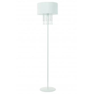 LAMPEX 153/ST BIA | Wenecja-LA Lampex podna svjetiljka 150cm 1x E27 bijelo, prozirno