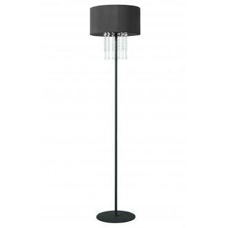 LAMPEX 153/ST CZA | Wenecja-LA Lampex podna svjetiljka 150cm 1x E27 crno, prozirno