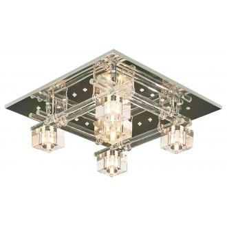 LAMPEX 178/5 | Sparta-LA Lampex stropne svjetiljke svjetiljka daljinski upravljač promjenjive boje 5x G4 LED krom, opal, prozirno