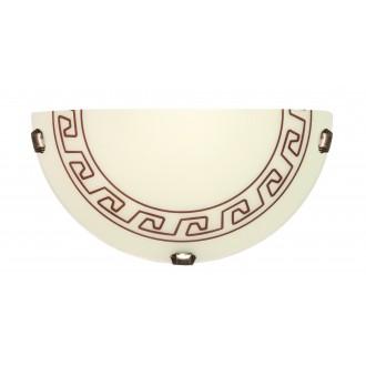 LAMPEX 205/K1 ECO | Atena Lampex zidna svjetiljka 1x E27 patinasto, krem