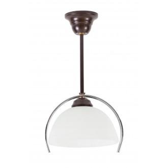 LAMPEX 264/Z | Lampex-Pendant Lampex visilice svjetiljka 1x E27 venga, krom, bijelo