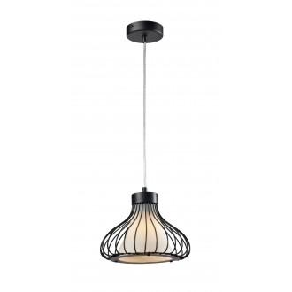 LAMPEX 298/A | Kenia Lampex visilice svjetiljka 1x E27 crno, bijelo