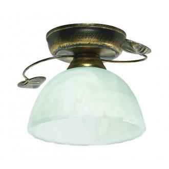 LAMPEX 444/B C+Z | Lampex-Pendant Lampex stropne svjetiljke svjetiljka 1x E27 antik zlato, alabaster
