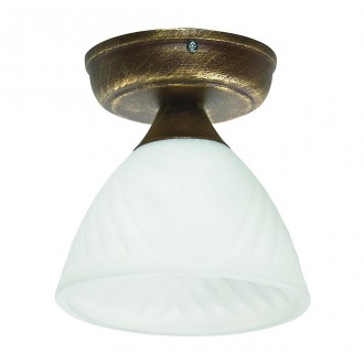 LAMPEX 445/B B+Z | Lampex-Pendant Lampex stropne svjetiljke svjetiljka 1x E27 antik zlato, opal