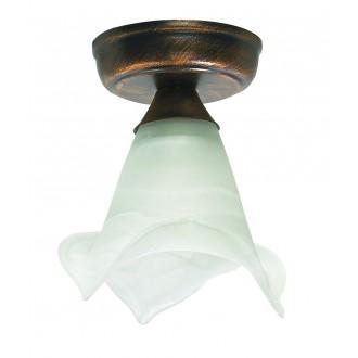 LAMPEX 445/C C+M | Lampex-Pendant Lampex stropne svjetiljke svjetiljka 1x E27 antik zlato, alabaster