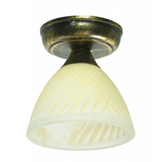 LAMPEX 445/D C+Z | Lampex-Pendant Lampex stropne svjetiljke svjetiljka 1x E27 antik zlato, krem