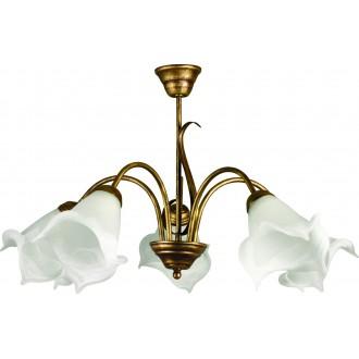 LAMPEX 505/5 B+Z | Ada-LA Lampex luster svjetiljka 5x E27 antik zlato, alabaster