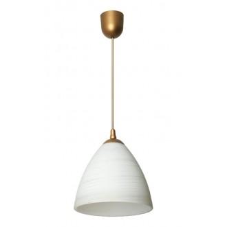 LAMPEX 588/A | Lampex-Pendant Lampex visilice svjetiljka 1x E27 bronca, bijelo