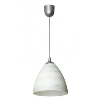 LAMPEX 588/B | Lampex-Pendant Lampex visilice svjetiljka 1x E27 antik srebrna, bijelo