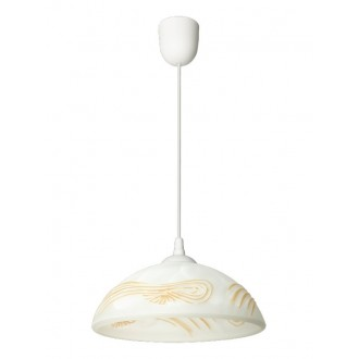 LAMPEX 588/D | Lampex-Pendant Lampex visilice svjetiljka 1x E27 bijelo, jantar