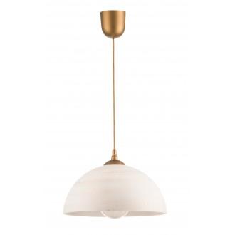 LAMPEX 588/G | Lampex-Pendant Lampex visilice svjetiljka 1x E27 zlatno, krem