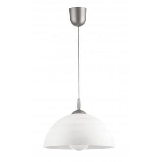 LAMPEX 588/H | Lampex-Pendant Lampex visilice svjetiljka 1x E27 srebrno, bijelo