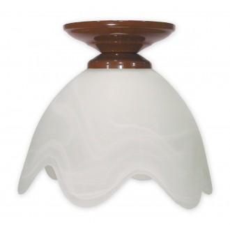 LEMIR 001/W1 K_6 | Fuksia Lemir stropne svjetiljke svjetiljka 1x E27 smeđe, alabaster