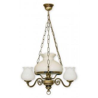 LEMIR 010/W4 | Alladyn Lemir luster svjetiljka 1x E27 + 3x E14 bronca, bijelo