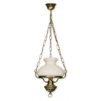LEMIR 012/W1 | Alladyn Lemir visilice svjetiljka 1x E27 bronca, bijelo