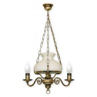 LEMIR 013/W4 | Alladyn Lemir visilice svjetiljka 1x E27 + 3x E14 bronca, bijelo