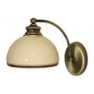 LEMIR 260/K1   Olimp Lemir zidna svjetiljka 1x E27 bronca, krem