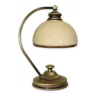 LEMIR 268/L1 | Olimp Lemir stolna svjetiljka 35cm sa prekidačem na kablu 1x E27 bronca, krem