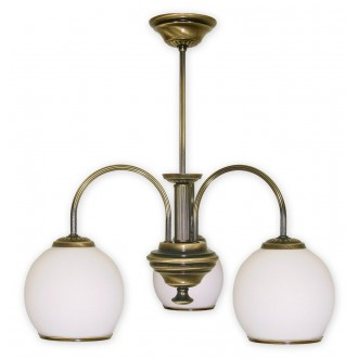LEMIR 283/W3 | Rodos Lemir luster svjetiljka 3x E27 bronca, bijelo