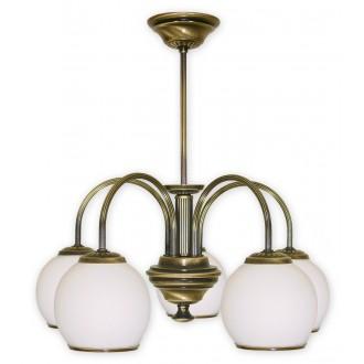 LEMIR 285/W5 | Rodos Lemir luster svjetiljka 5x E27 bronca, bijelo